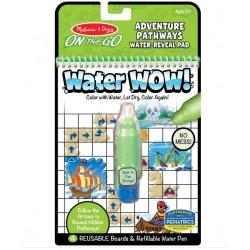 Melissa&Doug On The Go WATER WOW Malowanie Wodą Wielokrotnego Użytku ŚCIEŻKI PRZYGODOWE 40174