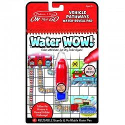 Melissa&Doug On The Go WATER WOW Malowanie Wodą Wielokrotnego Użytku ŚCIEŻKI POJAZDY 40177