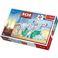 Trefl - 17154 - Puzzle 60 - Kąpiel w Pianie 101 Dalmatyńczyków