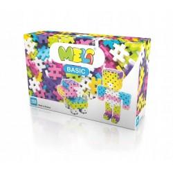MELI BASIC Klocki Wafle Zestaw Konstrukcyjny dla Dziewczynek 150 Sztuk 50020