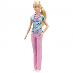 Mattel Barbie You Can Be Anything LALKA LEKARKA PEDIATRA GTW39