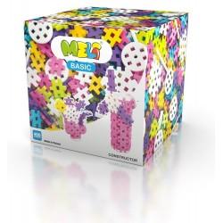 MELI BASIC Klocki Wafle Zestaw Konstrukcyjny dla Dziewczynek 400 Sztuk 50065