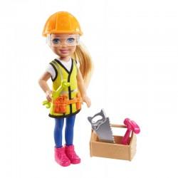 Mattel BARBIE CHELSEA CAN BE Lalka Chelsea Pracowniczka Budowy GTN87