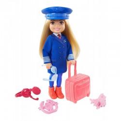 Mattel BARBIE CHELSEA CAN BE Lalka Chelsea Pilot Samolotu GTN90