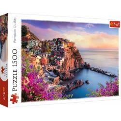 TREFL Puzzle 1500 Elementów Premium Quality WIDOK NA MIASTECZKO MANAROLA WŁOCHY 26137