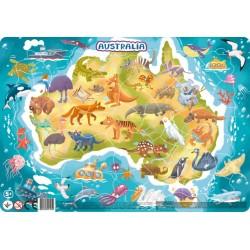 DODO Układanka Puzzle Na Podkładce Puzzle Ramkowe 53 Elementy AUSTRALIA 300179