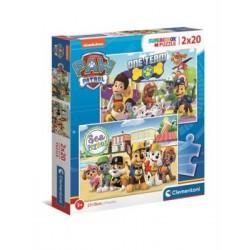 CLEMENTONI Puzzle 2x20 el. PSI PATROL SuperColor 24779