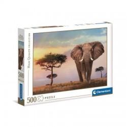 CLEMENTONI Puzzle 500 el. High Quality Collection ZACHÓD SŁOŃCA W AFRYCE 35096