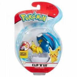 POKEMON CLIP 'N' GO Figurka Pikachu + Great Pokeball 37941
