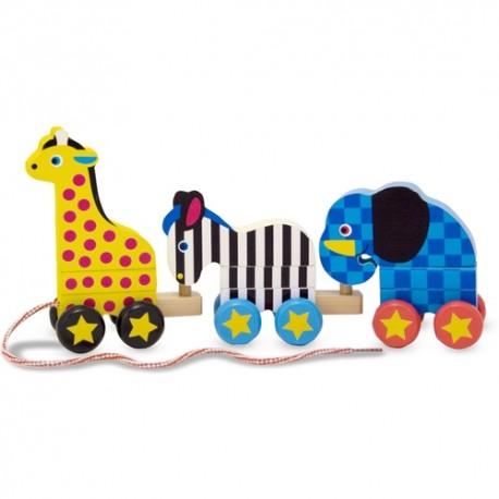 Melissa & Doug - 10289 - Drewniane Zwierzątka Zoo na Sznurku