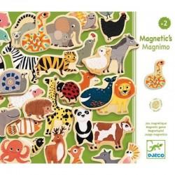 DJECO - 03124 - Drewniane Magnesy - Drewniana Układanka Magnetyczna - Zwierzęta