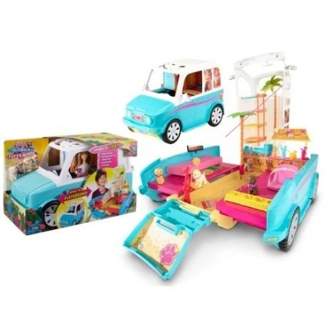 Mattel - DLY33 - Kamper - Barbie i Siostry na Tropie Piesków - Wakacyjny Pojazd Piesków