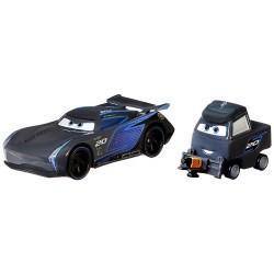 Mattel CARS AUTA Samochodziki Metalowe Dwupak JACKSON SZTORM I LAURA SPINWELL GRR24