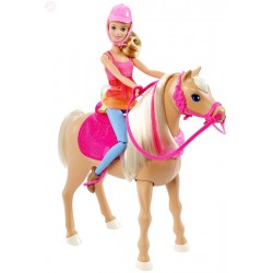 Mattel - DMC30 - Lalka - Barbie - Barbie i Siostry na Tropie Piesków - Barbie i Tańczący Koń