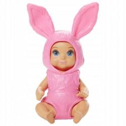 MATTEL Barbie Skipper Opiekunka Laleczka Bobas w Przebraniu Różowego Króliczka GRP02