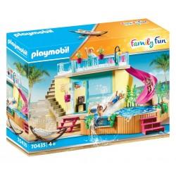 PLAYMOBIL Family Fun 70435 Bungalow z Basenem