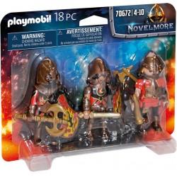PLAYMOBIL Novelmore 70672 Figurki Trzech Wojowników Burnham