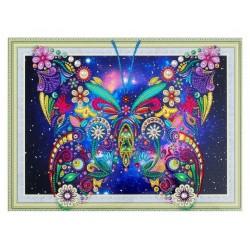 DIAMENTOWA MOZAIKA Diamond Painting 30x40 Kwiecisty Motyl 040255