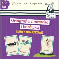 KAPITAN NAUKA Karty Obrazkowe ORTOGRAFIA Z MRÓWKĄ I BORÓWKĄ 6-9 Lat 5246