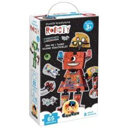 CzuCzu Układanka Puzzle 65 Elementów Puzzle Kreatywne ROBOTY 491293