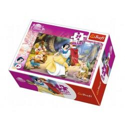 TREFL Puzzle MINI 54 Elementy Mini Układanka Disney Księżniczki KRÓLEWNA ŚNIEŻKA 19391