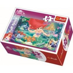 TREFL Puzzle MINI 54 Elementy Mini Układanka Disney Księżniczki MAŁA SYRENKA ARIELKA 19388