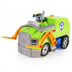 SPIN MASTER - 0083 - Psi Patrol - Paw Patrol - Pojazd ze Światłami i Dźwiękami - Pojazd do Recyklingu - Eco-Wóz - ROCKY