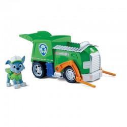 SPIN MASTER - 5129 - Psi Patrol - Paw Patrol - Pojazd do Recyklingu - Eco-Wóz z Figurką - ROCKY