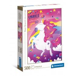 CLEMENTONI Puzzle Układanka 500 Elementów High Quality Collection Fantastyczne Zwierzęta UNICORN JEDNOROŻEC 35100