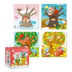 DODO Układanka Puzzle 4w1 CZTERY PORY ROKU Puzzle Dla Maluszków 300125