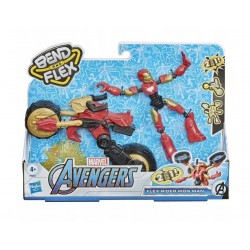 Hasbro Avengers Bend and Flex FIGURKA IRON MAN + POJAZD 2w1 F0244