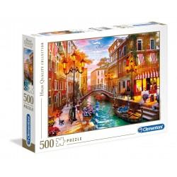 CLEMENTONI Układanka Puzzle 500 Elementów High Quality Collection ZACHÓD SŁOŃCA NAD WENECJĄ 35063