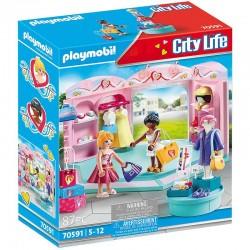 PLAYMOBIL City Life 70591 Modny Butik z Odzieżą