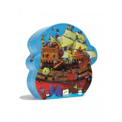 DJECO Puzzle Tekturowe 54 Elementy STATEK PIRACKI 07241