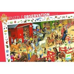 DJECO Puzzle Obserwacja 200 Elementów JAZDA KONNA 07454