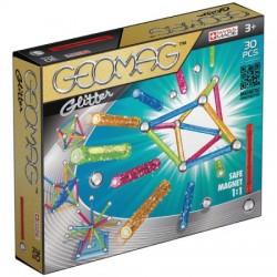 GEOMAG GLITTER Klocki Magnetyczne Brokatowe 30 Elementów 3+ 5315