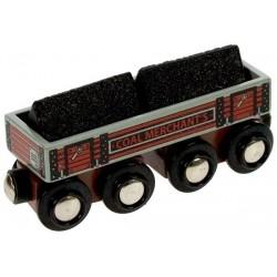 Bigjigs Toys - BJT408 - Wagon z Węglem - do Kolejek Drewnianych
