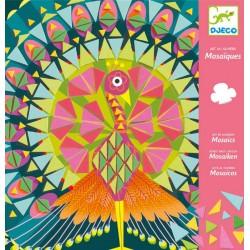 DJECO Zestaw Artystyczny Mozaika Do Wyklejania Mozaika Piankowa PAW I SOWA 08888