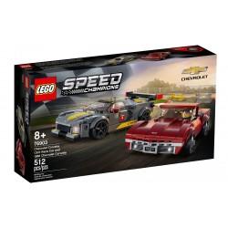 LEGO SPEED CHAMPIONS 76903 Samochód Wyścigowy Chevrolet Corvette C8.R i 1968 Chevrolet Corvette