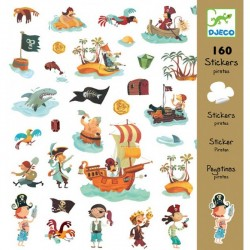 DJECO - 08843 - Naklejki 160 szt. - Naklejki Zwierzęta - DINOZAURY