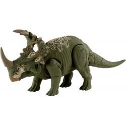Mattel JURASSIC WORLD Primal Attack Figurka Dinozaura SINOCERATOPS Z DŹWIĘKIEM HBX34