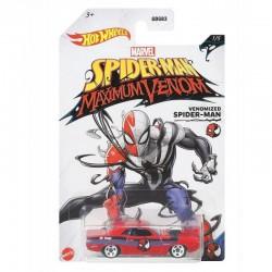 HOT WHEELS Marvel Spider-Man Maximum Venom Samochodzik Dodge Hemi Challenger VENOMIZED SPIDER-MAN GJV24