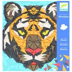 DJECO Zestaw Kreatywny Mozaiki Piankowe TYGRYS I GORYL 08887