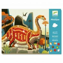 DJECO Zestaw Kreatywny Mozaiki DINOZAURY 08899