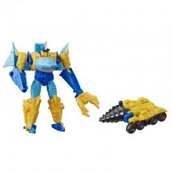 Hasbro TRANSFORMERS Cyberverse Spark Armor Figurka Transformująca + Pojazd SKY-BYTE DRILLER DRIVE E4297