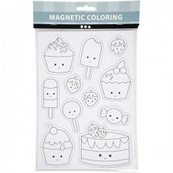 Magnetic Coloring Magnesy do Kolorowania SŁODKOŚCI 51237