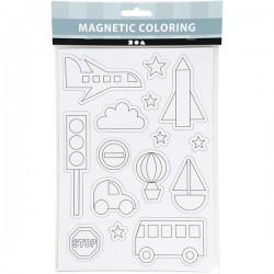 Magnetic Coloring Magnesy do Kolorowania TRANSPORT 51235