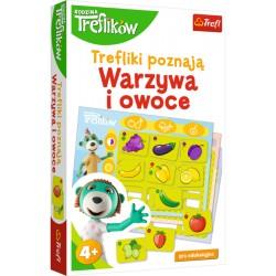 TREFL Gra Edukacyjna Trefliki Poznają WARZYWA I OWOCE 01840