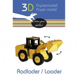 FRIDOLIN Papierowy Model 3D ŁADOWARKA 11583