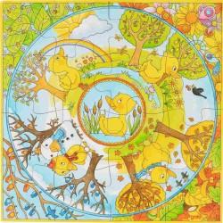Goki Puzzle Drewniane XXL KACZUSZKI 16 Elementów 57451